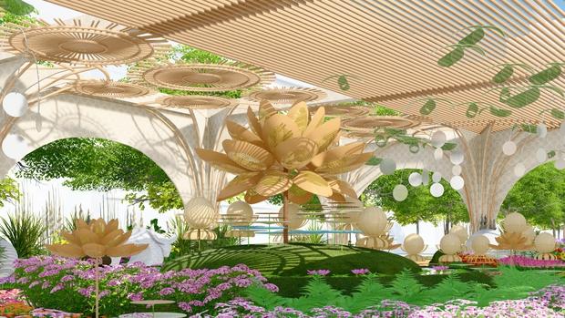 Đường hoa Nguyễn Huệ Tết Tân Sửu 2021 lung linh qua hình ảnh phối cảnh - Ảnh 8.