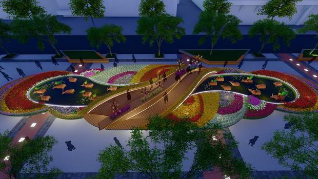 Đường hoa Nguyễn Huệ Tết Tân Sửu 2021 lung linh qua hình ảnh phối cảnh - Ảnh 5.