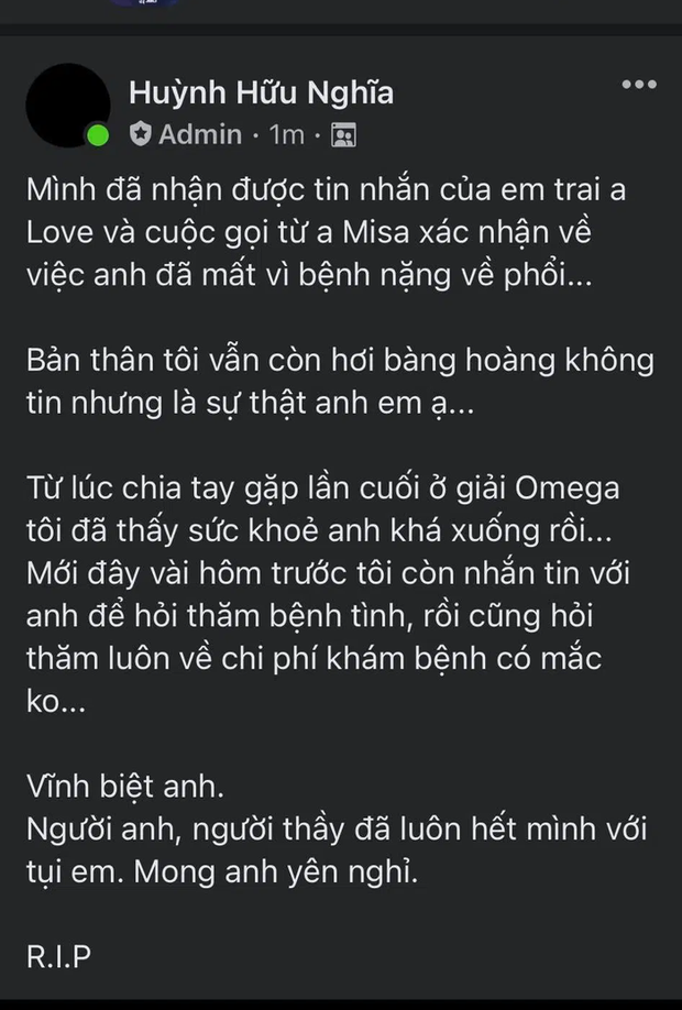 Huyền thoại Dota 2 Việt Nam qua đời ở tuổi 33 - Ảnh 1.