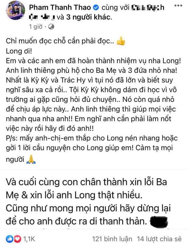 Phạm Thanh Thảo tiết lộ tình trạng của 2 con lớn NS Vân Quang Long, đáp trả căng đét khi bị netizen xúc phạm vì đấu tố Linh Lan - Ảnh 2.