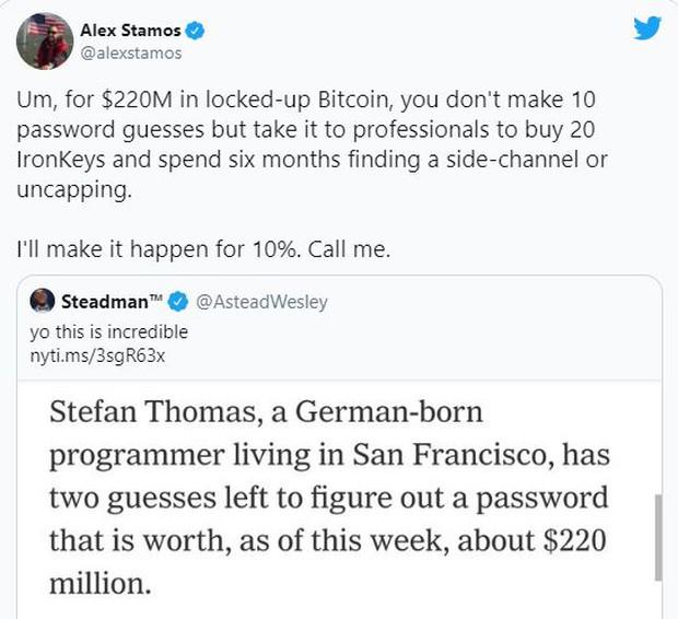 Quên mật khẩu, lập trình viên này chỉ còn 2 cơ hội để truy cập ví Bitcoin trị giá 240 triệu USD trước khi mất chúng vĩnh viễn - Ảnh 2.