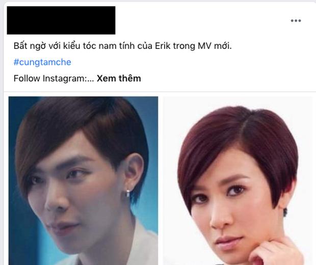 Erik tự dưng để tóc tém mái chéo, dân mạng chết cười vì quá giống Xa Thi Mạn, Thu Trang rồi cả Tóc Tiên cũng được gọi tên - Ảnh 6.