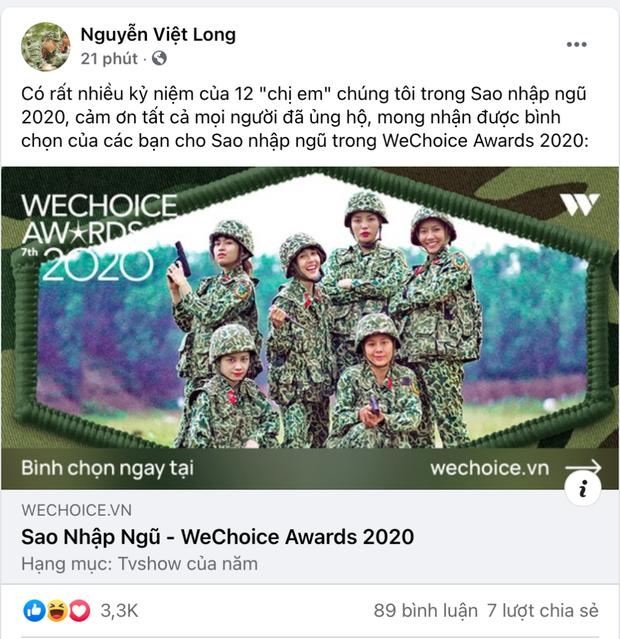 Cổng bình chọn WeChoice Awards 2020 vừa mở, dân tình đã kêu gọi vote ào ào tưng bừng trên MXH - Ảnh 9.