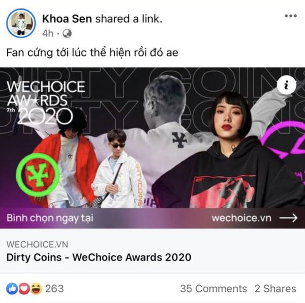 Cổng bình chọn WeChoice Awards 2020 vừa mở, dân tình đã kêu gọi vote ào ào tưng bừng trên MXH - Ảnh 17.
