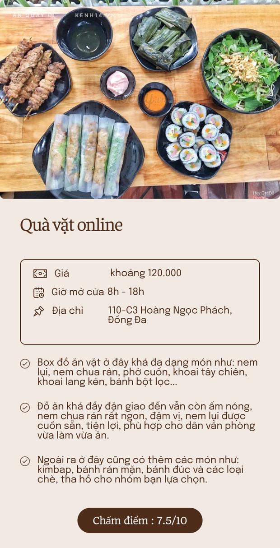 Bỏ túi 5 quán ship box ăn vặt quanh Hà Nội: Đủ lựa chọn cho các mọt ăn nhâm nhi mỗi xế chiều - Ảnh 4.