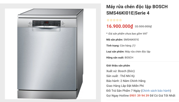 Loạt máy rửa bát đang sale: Chị em sắm ngay trước Tết để việc bếp núc nhàn tênh - Ảnh 13.