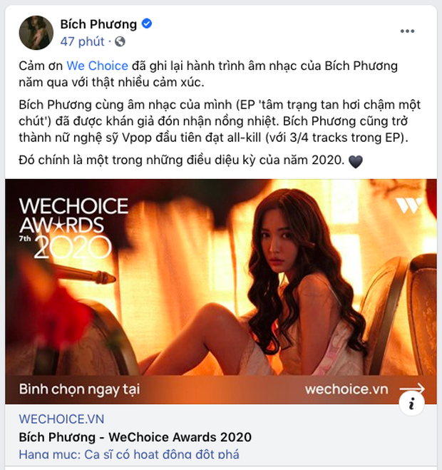 Các nghệ sĩ Việt nô nức kêu gọi bình chọn tại WeChoice Awards 2020, cuộc chiến fandom đang vô cùng gay cấn! - Ảnh 2.