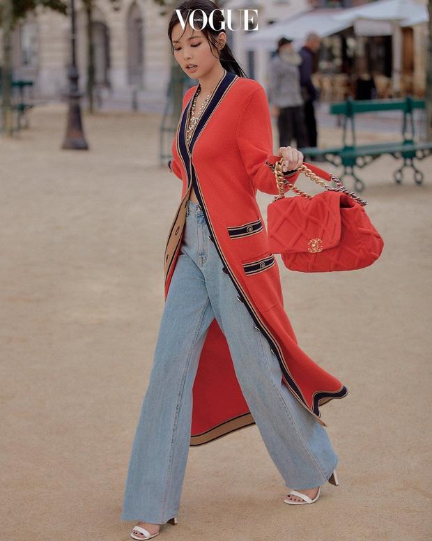 Diện cardigan dáng dài không cài hết cúc, Ninh Dương Lan Ngọc nhẹ nhàng nối gót Jennie, Rosé, mix đồ siêu xinh - Ảnh 3.