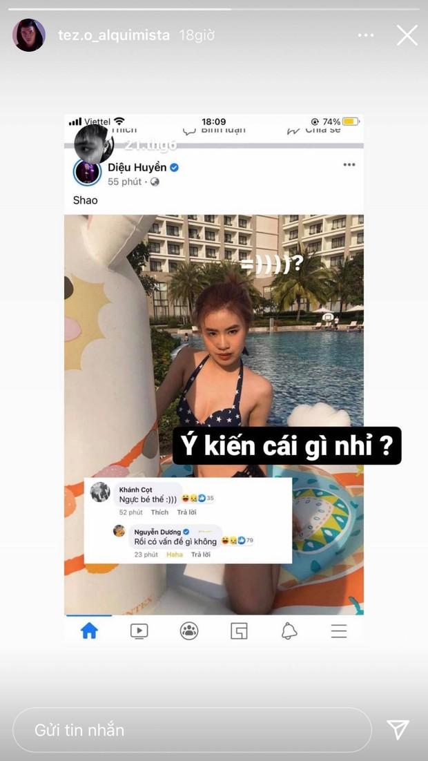 Pháo bị netizen chê ngực bé khi đăng ảnh bikini, Tez liền bay vào hỏi ngược cực gắt - Ảnh 2.
