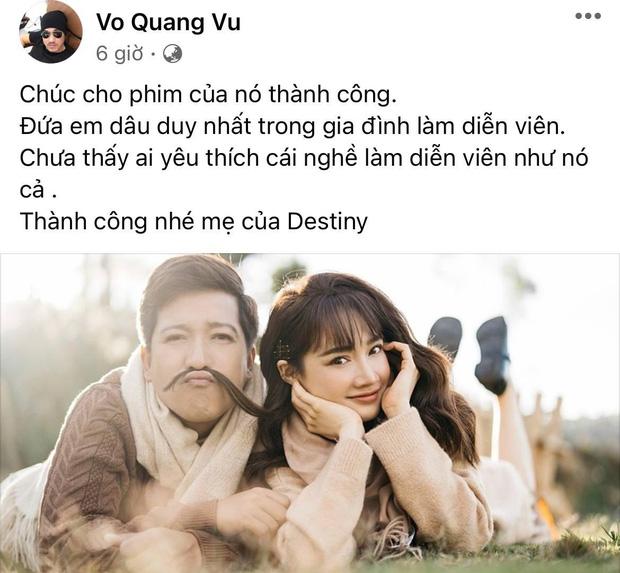 Anh trai của Trường Giang đăng status hé lộ thái độ với em dâu Nhã Phương: Nam danh hài là rể quý, còn nàng thì sao? - Ảnh 2.