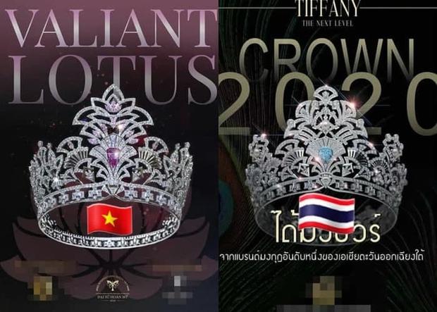 BTC Đại sứ Hoàn mỹ vướng nghi vấn đạo nhái vương miện, bị soi giống của Hoa hậu Chuyển giới Thái Lan đến 70% - Ảnh 2.