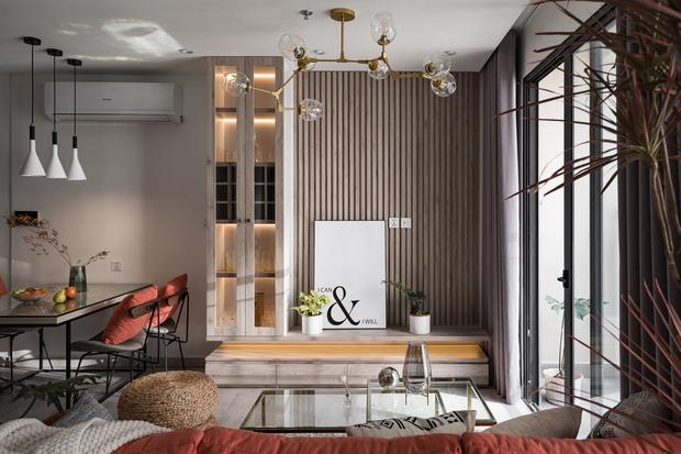 Nhà Vinhomes của trai Hà thành: Sofa màu cam thu hút mọi ánh nhìn, không gian ngập ánh sáng vừa thoáng vừa chill - Ảnh 2.