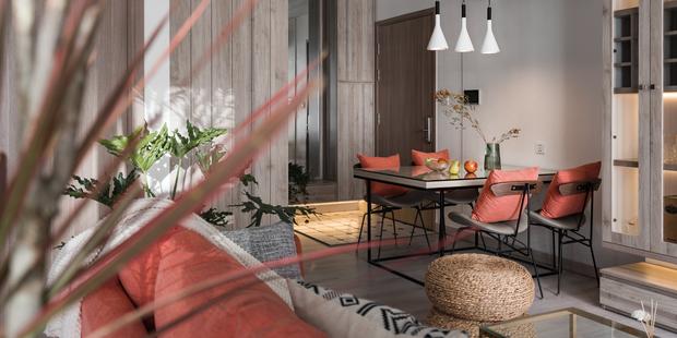 Nhà Vinhomes của trai Hà thành: Sofa màu cam thu hút mọi ánh nhìn, không gian ngập ánh sáng vừa thoáng vừa chill - Ảnh 8.