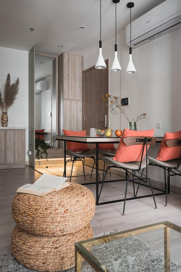 Nhà Vinhomes của trai Hà thành: Sofa màu cam thu hút mọi ánh nhìn, không gian ngập ánh sáng vừa thoáng vừa chill - Ảnh 9.