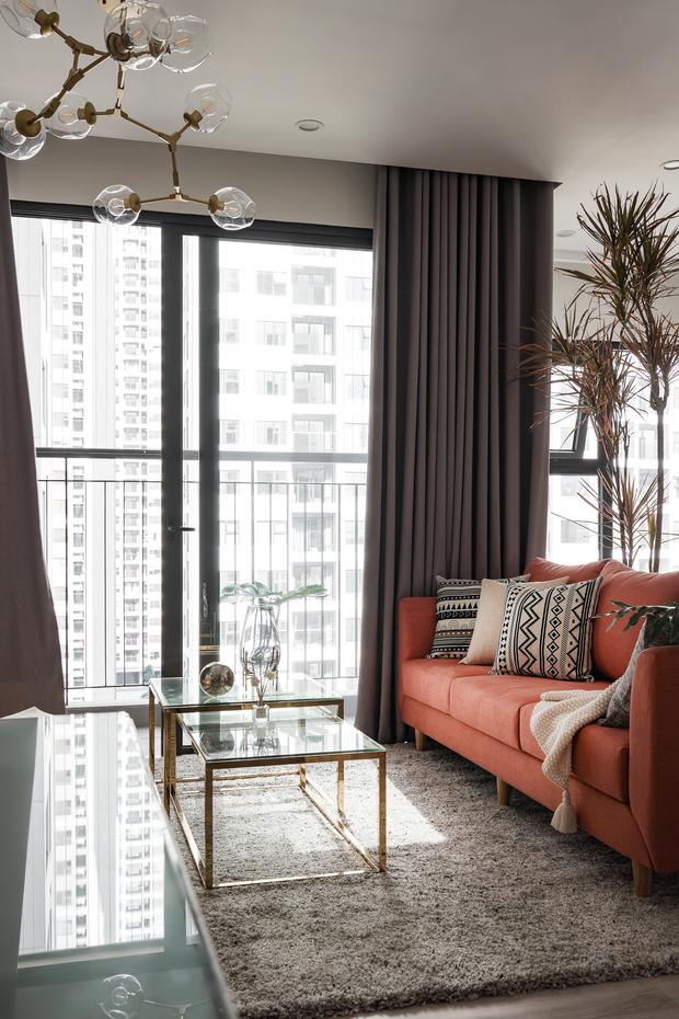 Nhà Vinhomes của trai Hà thành: Sofa màu cam thu hút mọi ánh nhìn, không gian ngập ánh sáng vừa thoáng vừa chill - Ảnh 3.