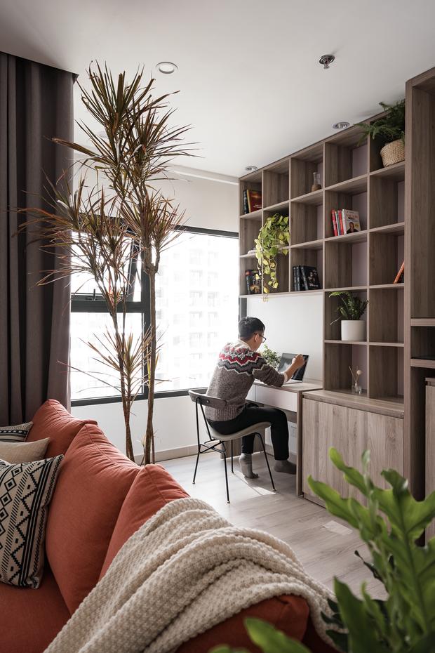 Nhà Vinhomes của trai Hà thành: Sofa màu cam thu hút mọi ánh nhìn, không gian ngập ánh sáng vừa thoáng vừa chill - Ảnh 6.