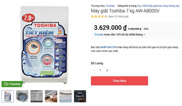 Top 8 máy giặt sale kịch sàn: Dưới 4 triệu vẫn rinh được chiếc ra gì - Ảnh 1.