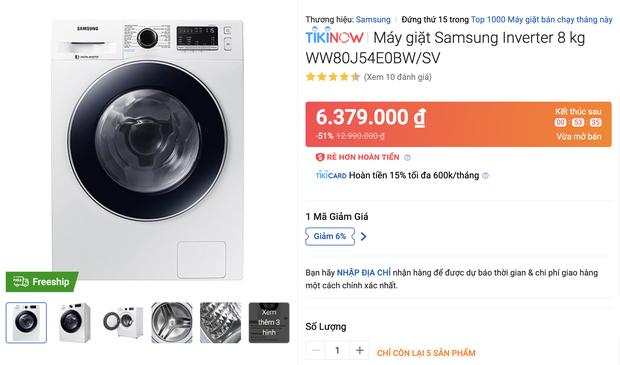 Top 8 máy giặt sale kịch sàn: Dưới 4 triệu vẫn rinh được chiếc ra gì - Ảnh 5.