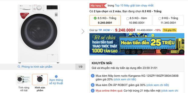 Top 8 máy giặt sale kịch sàn: Dưới 4 triệu vẫn rinh được chiếc ra gì - Ảnh 9.