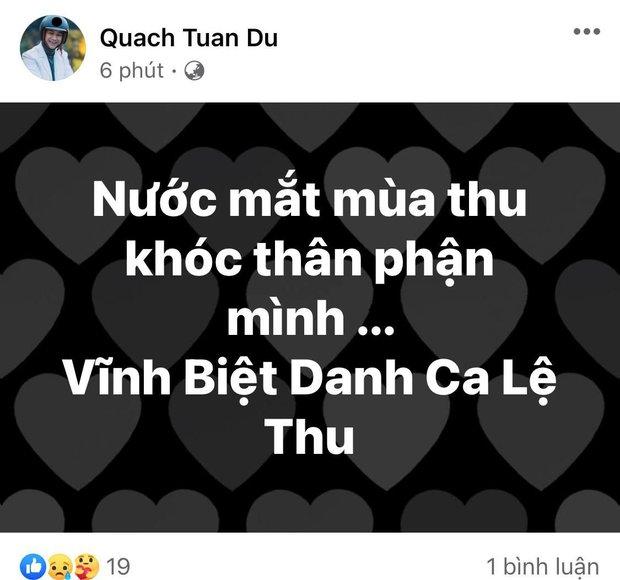 Ca sĩ Thanh Thảo, Quách Tuấn Du và dàn sao Vbiz tiếc thương khi danh ca Lệ Thu qua đời vì Covid-19 - Ảnh 6.