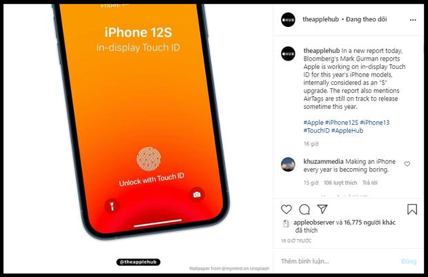 Cộng đồng iFan dậy sóng khi nghe tin iPhone 12S được trang bị tính năng bảo mật Touch ID dưới màn hình - Ảnh 2.