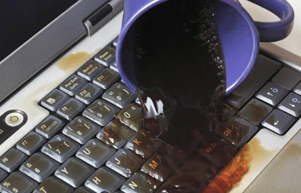 Nếu chẳng may đổ nước hay cà phê lên laptop, đây là 5 bước thần thánh để giải nguy cực kỳ hiệu quả - Ảnh 1.