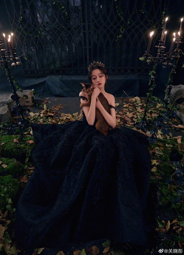 Màn bùng nổ visual gây bão Cbiz hôm nay: Quan Hiểu Đồng hoá công chúa bóng đêm, visual lẫn thần thái đỉnh của chóp - Ảnh 12.
