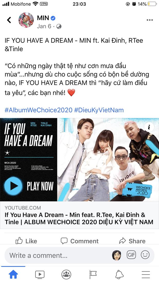 Vbiz rần rần vì WeChoice Awards 2020: Sao Việt đăng đầy newsfeed, fanpage NS Chí Tài chia sẻ đầy xúc động, Binz - Hoà Minzy gấp rút kêu gọi - Ảnh 6.