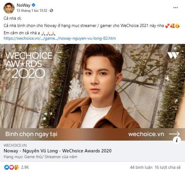 Game thủ/ Streamer Việt đang sốt xình xịch với cuộc chiến kêu gọi bình chọn tại WeChoice Awards 2020, fan hưởng ứng cực nhiệt! - Ảnh 4.