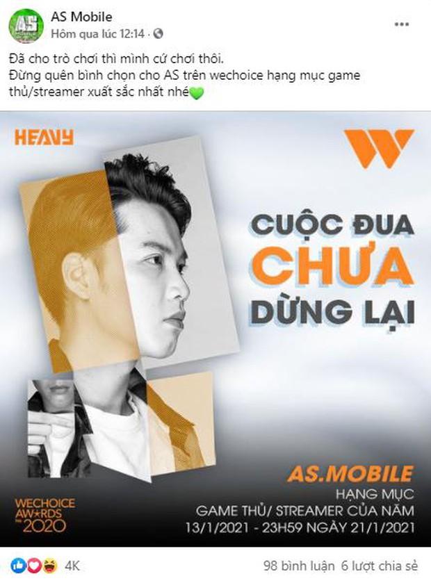 Game thủ/ Streamer Việt đang sốt xình xịch với cuộc chiến kêu gọi bình chọn tại WeChoice Awards 2020, fan hưởng ứng cực nhiệt! - Ảnh 5.