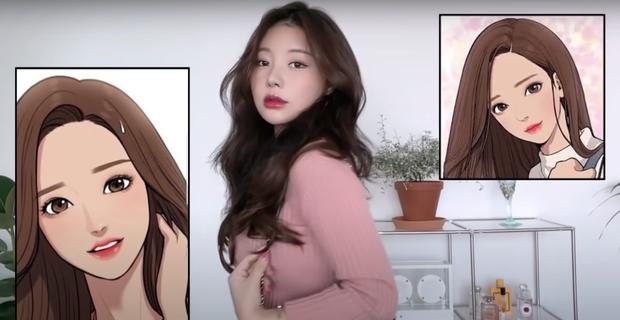 YouTuber Hàn kiếm triệu view nhờ makeup giống mỹ nhân True Beauty, netizen xỉu mạnh vì nhìn y chang nguyên mẫu - Ảnh 2.