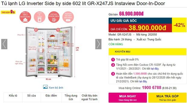 7 tủ lạnh sang-xịn-mịn đang sale đến 40%, giá từ 23 triệu sắm về sang cả căn nhà - Ảnh 5.