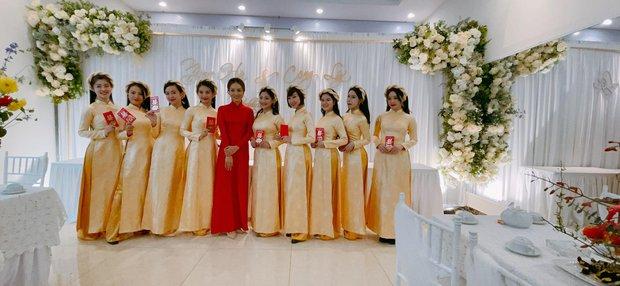 Lễ ăn hỏi NS Công Lý: Tân lang tân nương tươi như hoa, Quỳnh Kool - Kim Oanh làm phù dâu - Ảnh 10.