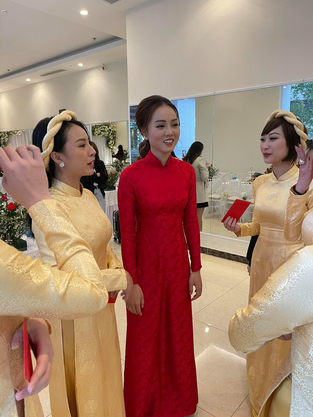 Lễ ăn hỏi NS Công Lý: Tân lang tân nương tươi như hoa, Quỳnh Kool - Kim Oanh làm phù dâu - Ảnh 8.