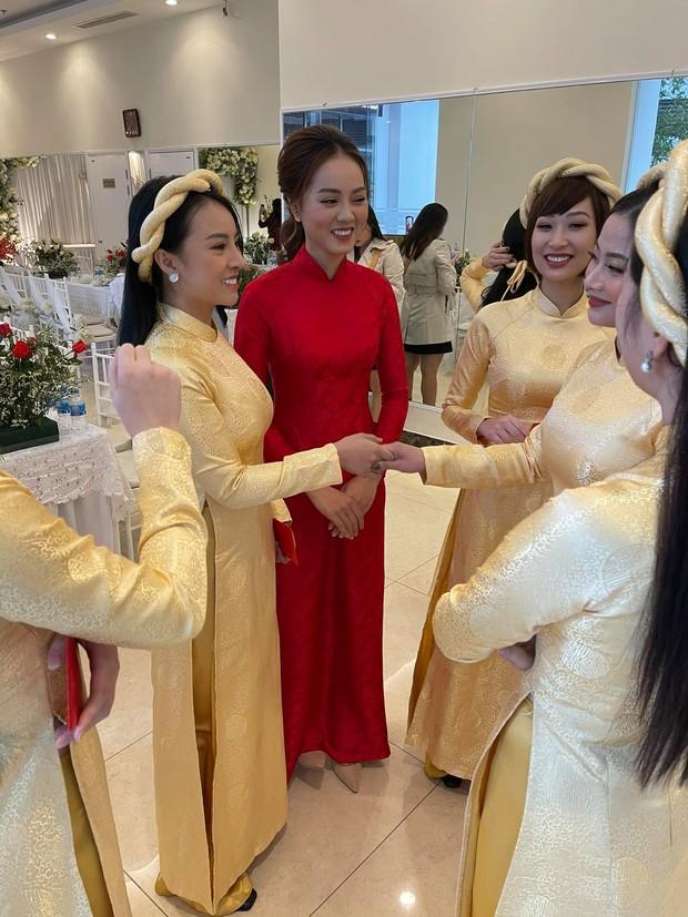 Lễ ăn hỏi NS Công Lý: Tân lang tân nương tươi như hoa, Quỳnh Kool - Kim Oanh làm phù dâu - Ảnh 7.