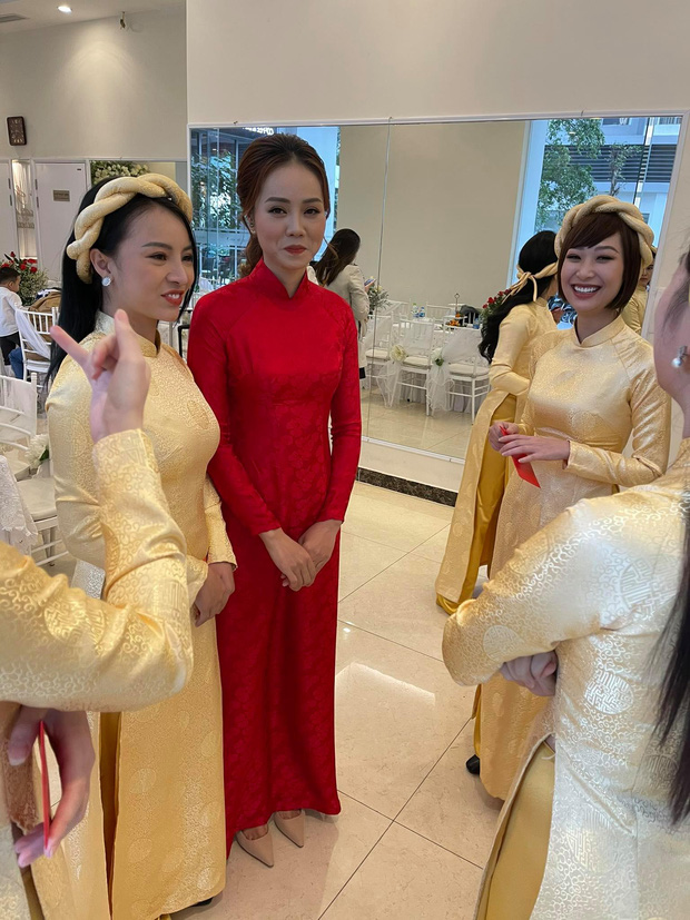 Lễ ăn hỏi NS Công Lý: Tân lang tân nương tươi như hoa, Quỳnh Kool - Kim Oanh làm phù dâu - Ảnh 9.