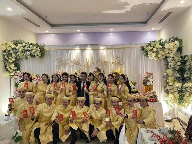 Lễ ăn hỏi NS Công Lý: Tân lang tân nương tươi như hoa, Quỳnh Kool - Kim Oanh làm phù dâu - Ảnh 5.