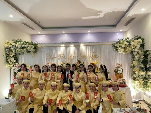 Lễ ăn hỏi NS Công Lý: Tân lang tân nương tươi như hoa, Quỳnh Kool - Kim Oanh làm phù dâu - Ảnh 6.