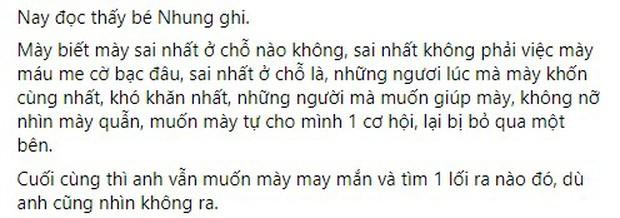 Tinikun viết tâm thư nhắn gửi Sena: Cái sai nhất của mày là không trân trọng những người đã yêu thương, giúp đỡ mày - Ảnh 3.
