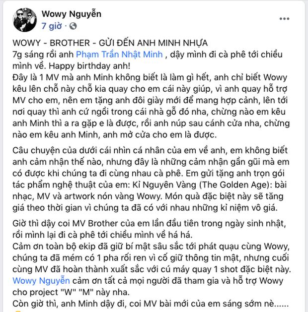 Wowy chơi lớn quay hẳn MV mừng sinh nhật đại gia Minh Nhựa, còn tặng phiên bản nón vàng chưa từng có - Ảnh 2.
