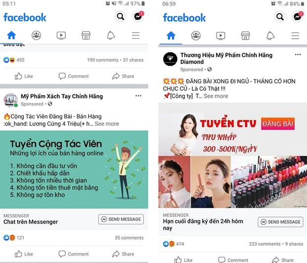 Cảnh báo bẫy lừa từ trò quảng cáo kiếm tiền qua mạng xã hội - Ảnh 1.