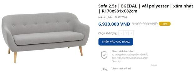 7 mẫu sofa đẹp xịn đang sale, sắm về sang nhà sang cửa tức thì - Ảnh 7.