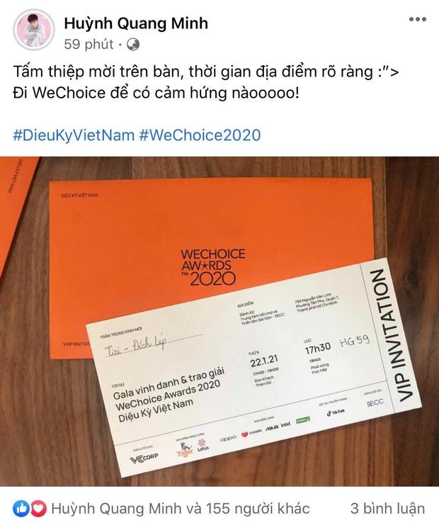 Tấm thiệp mời WeChoice Awards 2020 trên tay, dàn khách mời đang nôn đi trẩy hội lắm rồi! - Ảnh 9.
