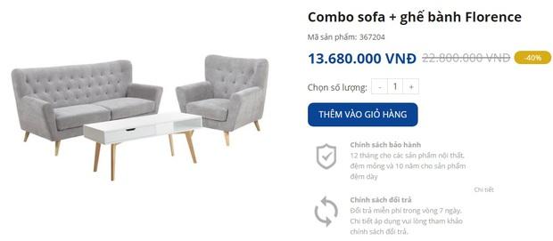 7 mẫu sofa đẹp xịn đang sale, sắm về sang nhà sang cửa tức thì - Ảnh 11.