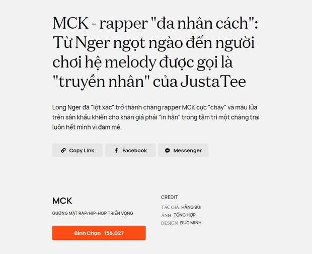 MCK ẵm giải thưởng đầu tiên trong sự nghiệp, là Gương mặt Rap/Hip-hop triển vọng tại WeChoice Awards 2020 - Ảnh 10.