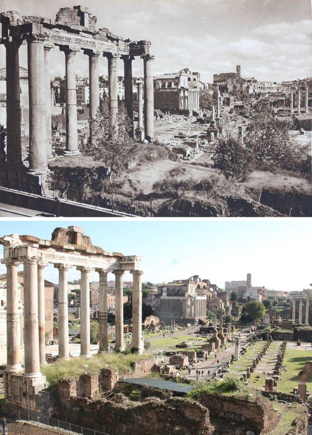 Nhiếp ảnh gia ngao du khắp châu Âu, tìm lại những địa điểm trong loạt ảnh cũ từ 100 năm trước khiến ai cũng ngỡ ngàng vì sự đổi thay kì diệu - Ảnh 8.