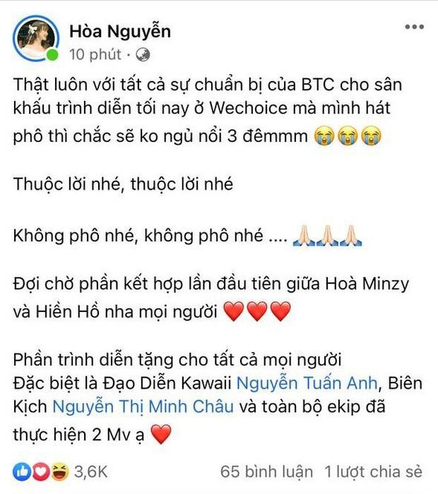 Hoà Minzy háo hức chờ đến màn kết hợp lần đầu với Hiền Hồ tại WCA 2020, khẳng định: Lỡ hát phô thì ngủ không nổi 3 đêm - Ảnh 3.