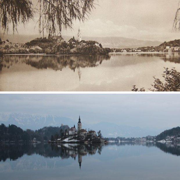 Nhiếp ảnh gia ngao du khắp châu Âu, tìm lại những địa điểm trong loạt ảnh cũ từ 100 năm trước khiến ai cũng ngỡ ngàng vì sự đổi thay kì diệu - Ảnh 15.