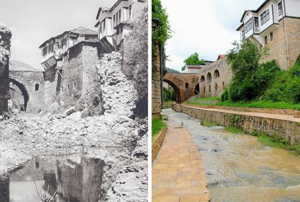 Nhiếp ảnh gia ngao du khắp châu Âu, tìm lại những địa điểm trong loạt ảnh cũ từ 100 năm trước khiến ai cũng ngỡ ngàng vì sự đổi thay kì diệu - Ảnh 16.
