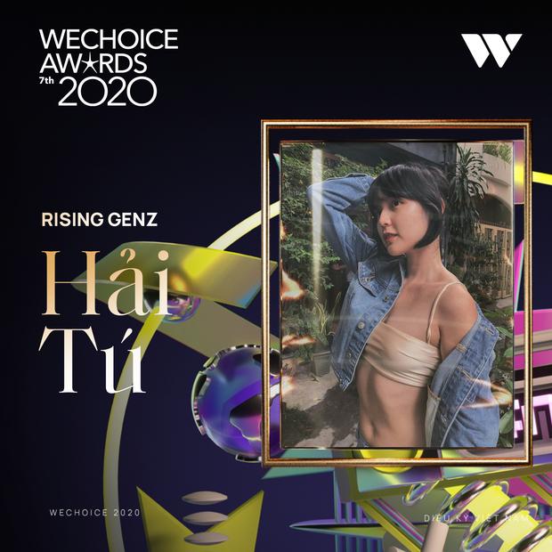WeChoice 2020: Thời tới cản không kịp, Hải Tú vượt mặt Tlinh - MCK chiến thắng hạng mục Rising GenZ - Ảnh 2.